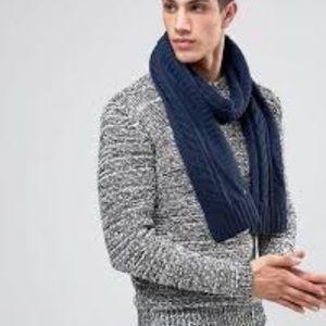 Hollister sweater navy blue men's scarf.